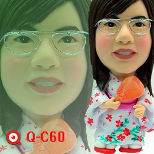 Q-C60-輕扇日本和服女孩公仔